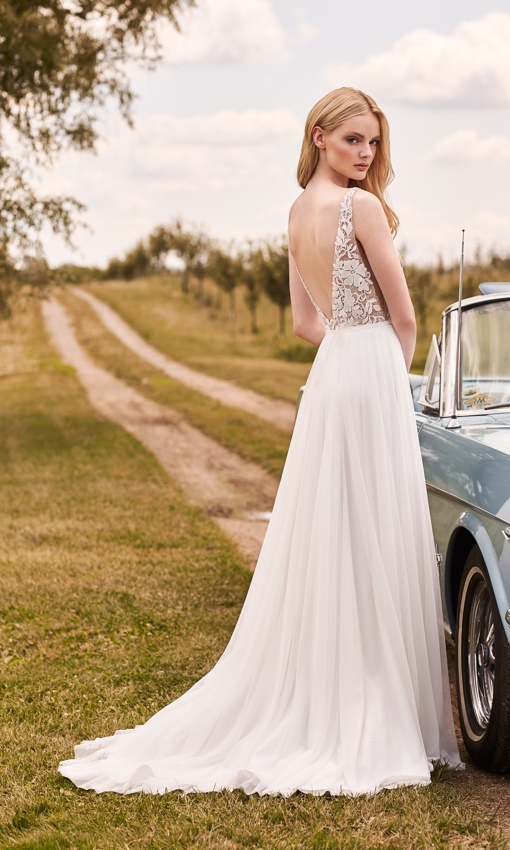 tulle and lace wedding gown a-line