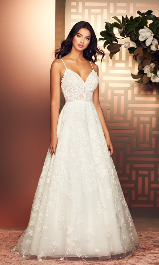 tulle and lace aline wedding gown