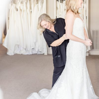 How to properly bustle a wedding dress – and why it matters